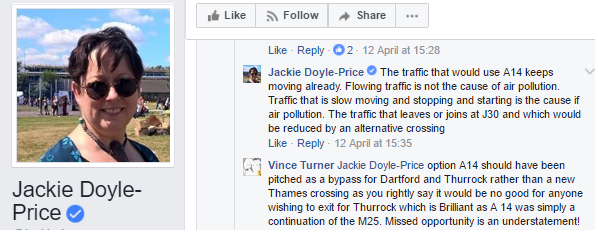 JDP on A14 pollution