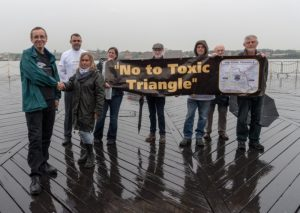 toxic triangle protest