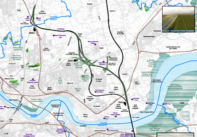 Route C Option 3 – Highways England and the Government's preferred route