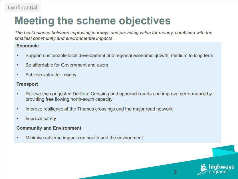 LTC TF Sept Meeting HE Presentation Page2. Highways England's latest considerations for design update