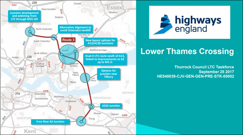 LTC Task Force Meeting Sept HE Presentation. Highways England's latest considerations for design update