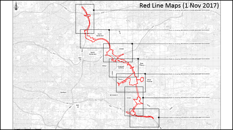 Updated Red Line Maps (1st Nov 2017)