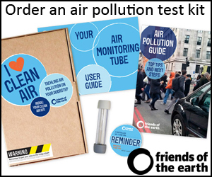 Friends Of the Earth Air Pollution Testing Kits