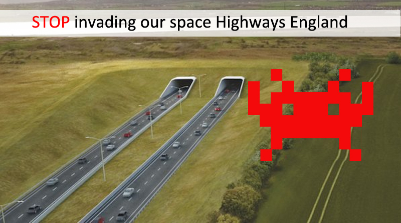 Stop invading our space Highways England