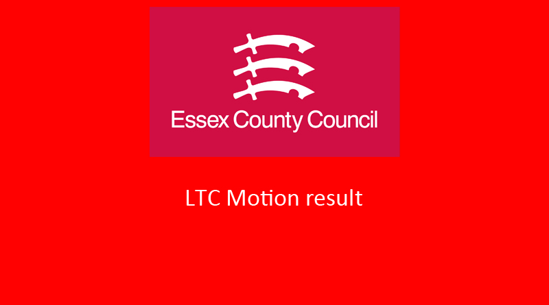 Essex County Council LTC motion result