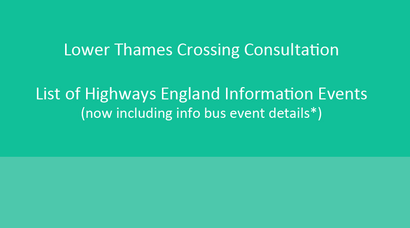 Highways England Statutory Consultation Public Information Events