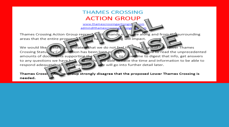 Thames Crossing Action Group response to LTC Consultation