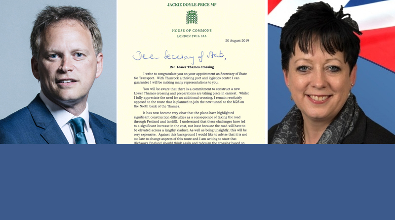 Letter from Jackie Doyle-Price to Grant Shapps