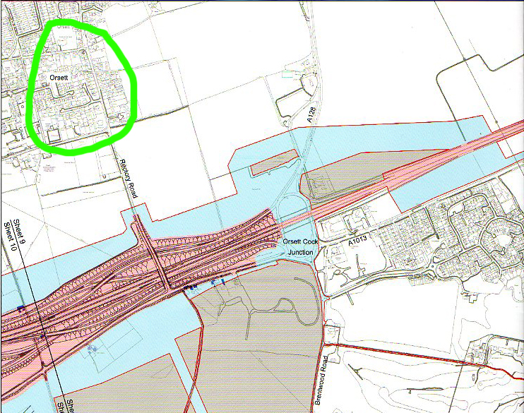 Highways England have sent more letters with errors. Some residents in the area circled in bright green were told they were now within the development boundary