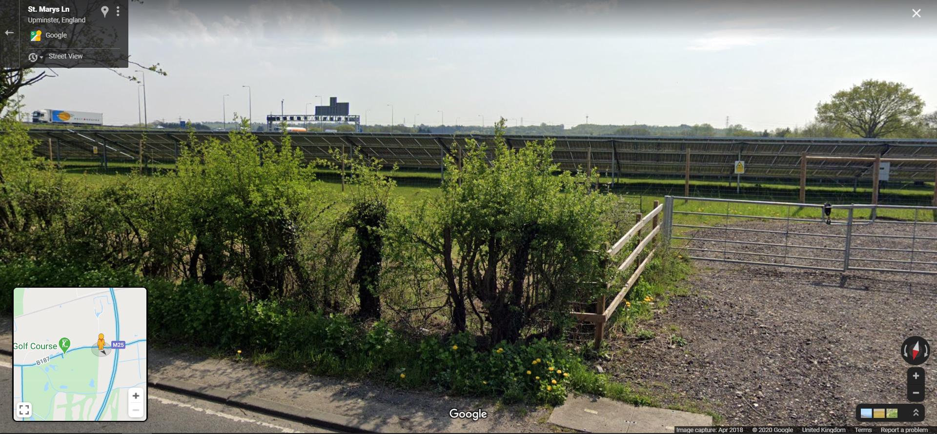 Cranham Solar Farm from St Marys Lane B187