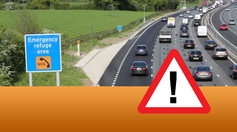 LTC Road Standard and Safety - a busy 'smart' motorway with an Emergency Refuge Area