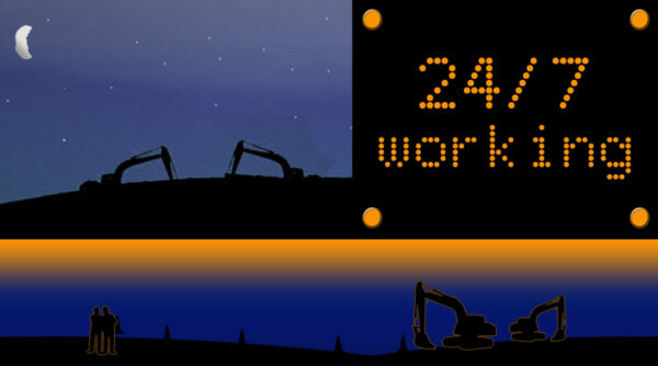 24/7 construction hours