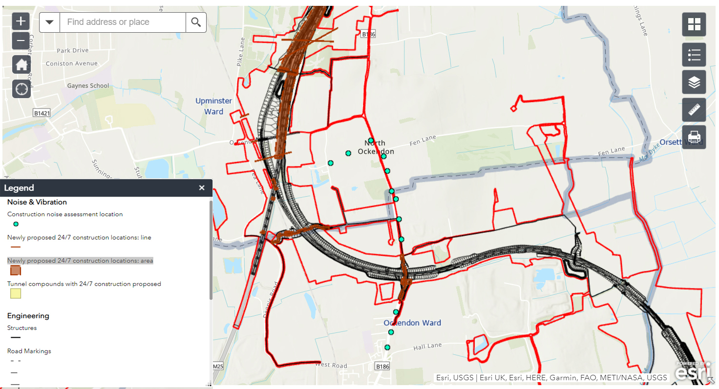 Click to enlarge - Upminster area