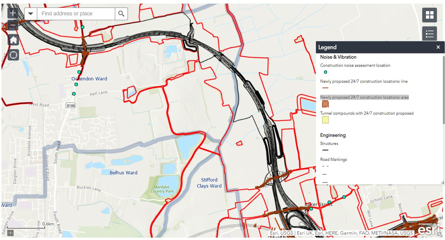 Click to enlarge - Ockendon area
